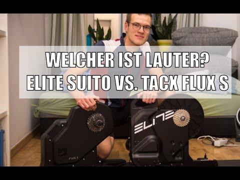 Elite Suito Lautstärke im Vergleich zum Tacx Flux S